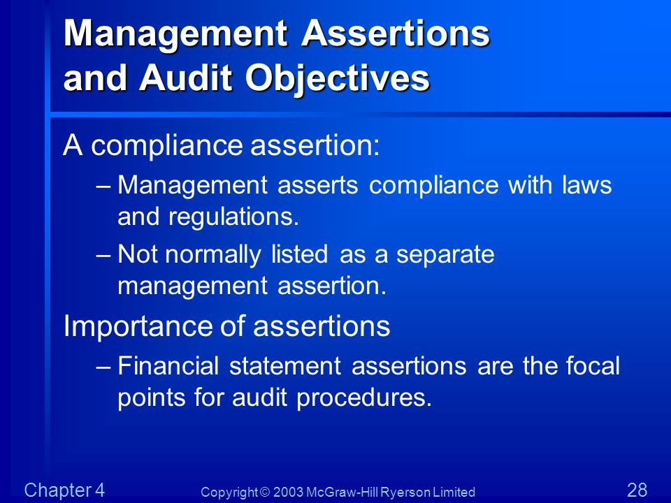 Management Assertions and Audit Objectives