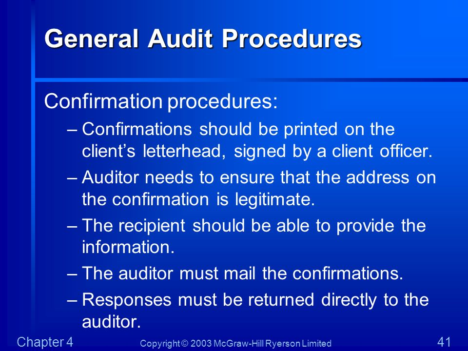 General Audit Procedures