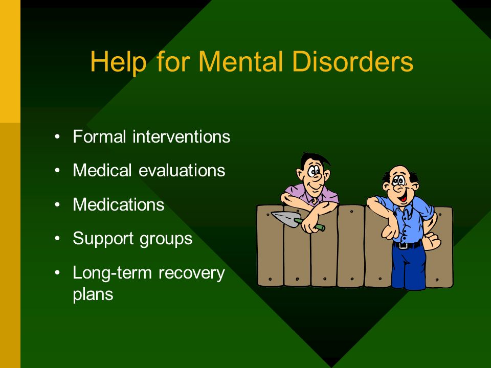 Help for Mental Disorders