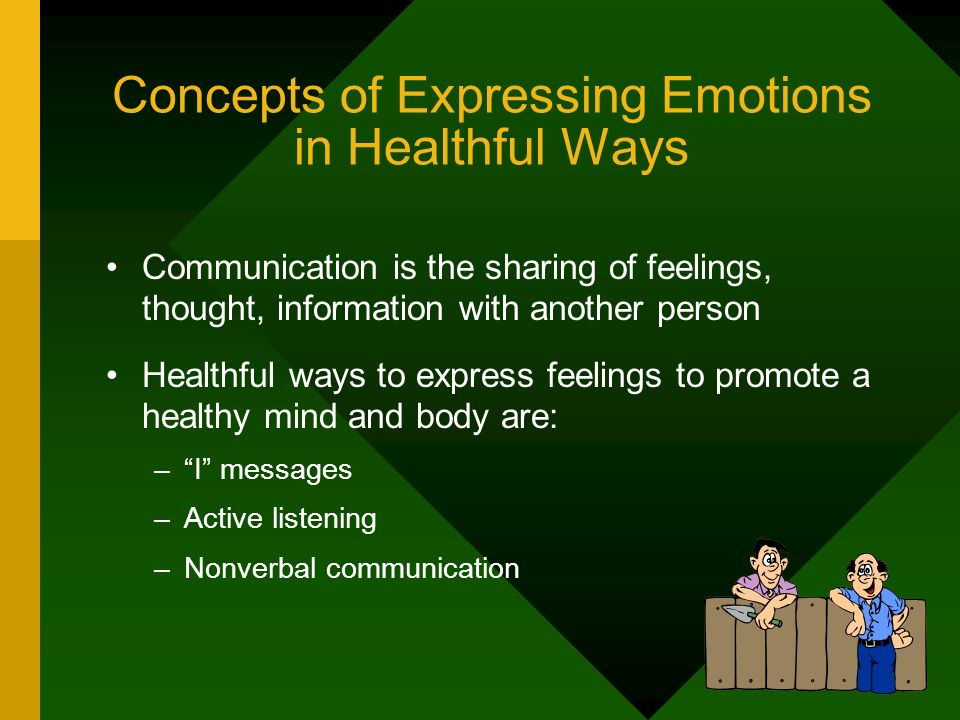 Concepts of Expressing Emotions in Healthful Ways
