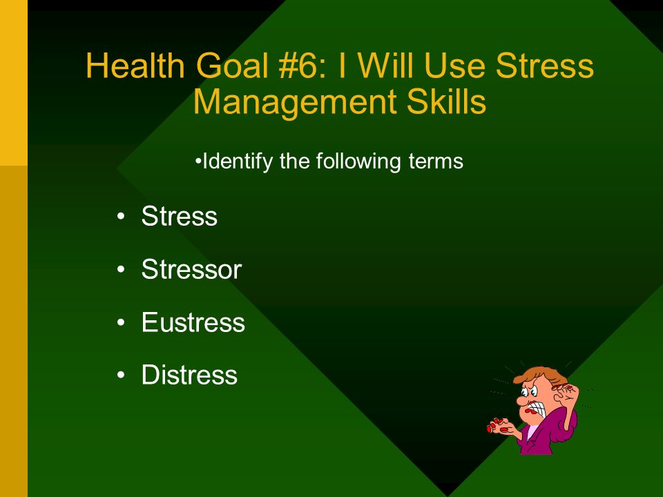 Health Goal #6: I Will Use Stress Management Skills