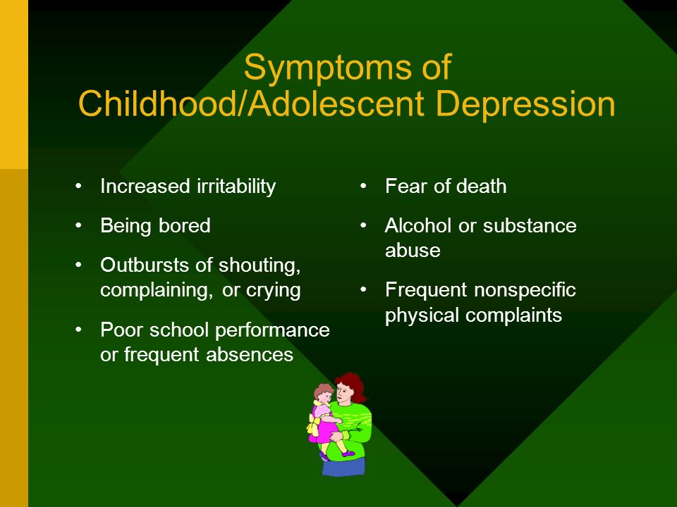 Symptoms of Childhood/Adolescent Depression