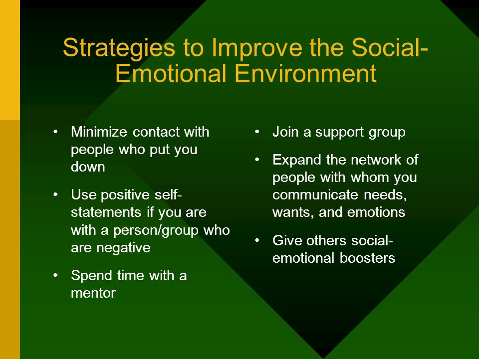 Strategies to Improve the Social-Emotional Environment