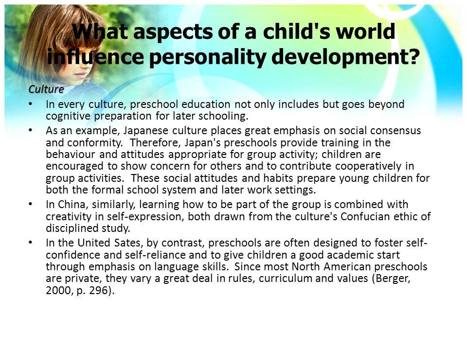 an analysis of the six aspects of child development Cognitive development in childhood is about change  all aspects of children's development  mother-infant interaction: a growth curve analysis developmental .