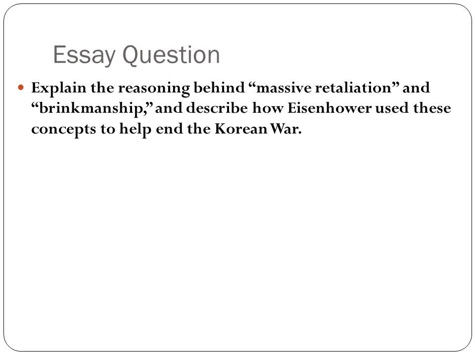 essay questions on the korean war The korean war was a military confrontment of the two korea´s today.