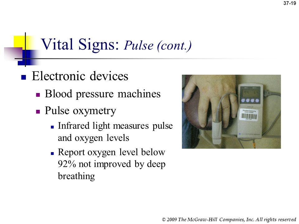 Vital Signs: Pulse (cont.)