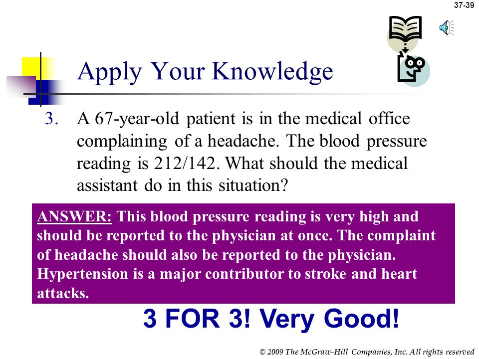 Apply Your Knowledge 3 FOR 3! Very Good!