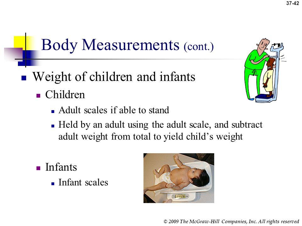Body Measurements (cont.)