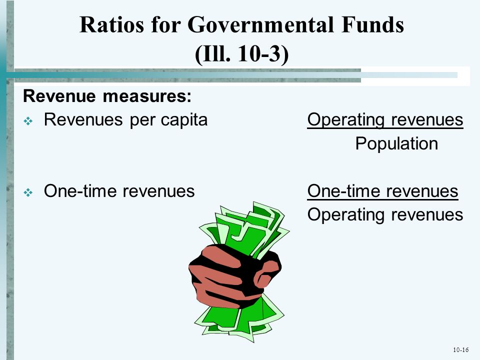 Ratios for Governmental Funds (Ill. 10-3)