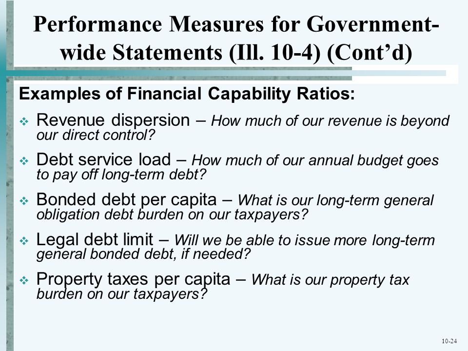 Performance Measures for Government-wide Statements (Ill
