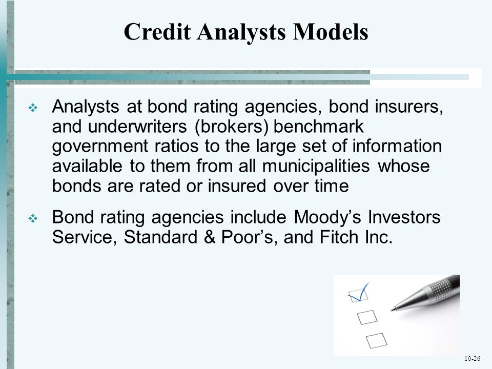 Credit Analysts Models