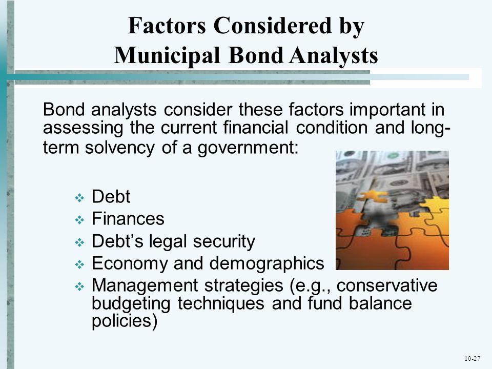 Municipal Bond Analysts