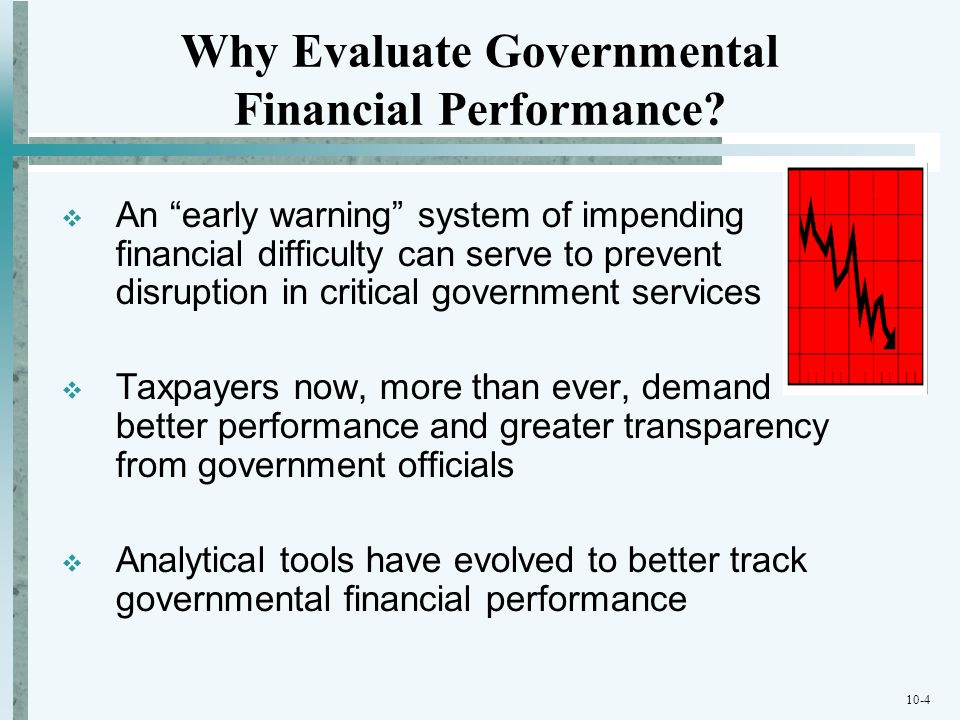 Why Evaluate Governmental Financial Performance
