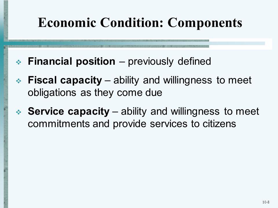 Economic Condition: Components
