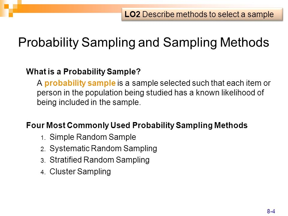 Probability Sampling and Sampling Methods