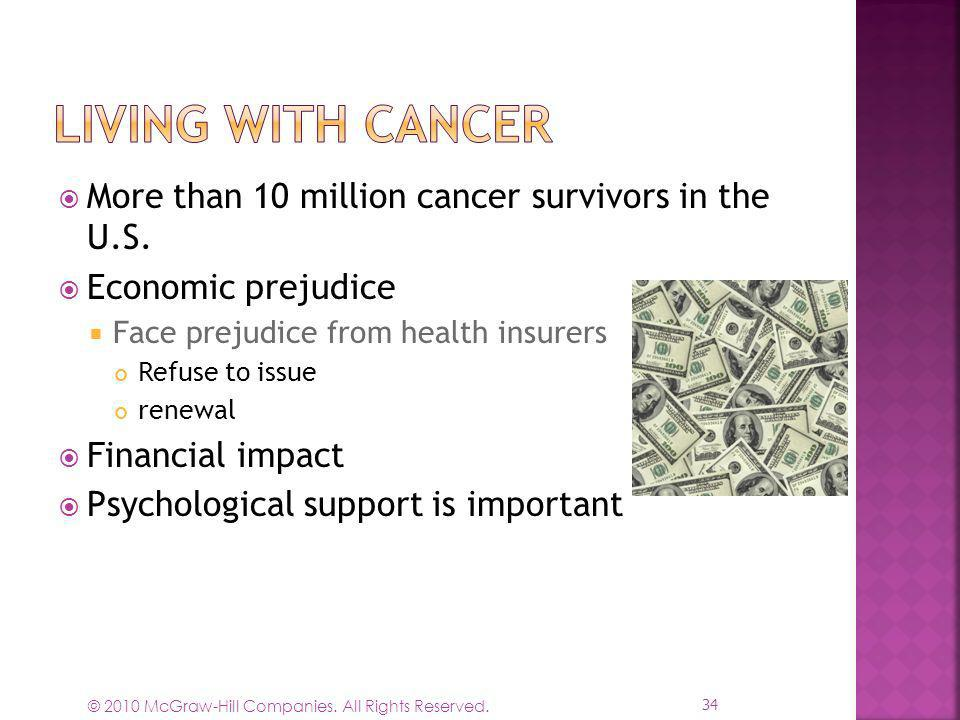 Living with Cancer More than 10 million cancer survivors in the U.S.