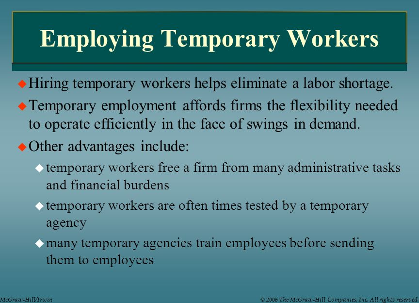 Employing Temporary Workers
