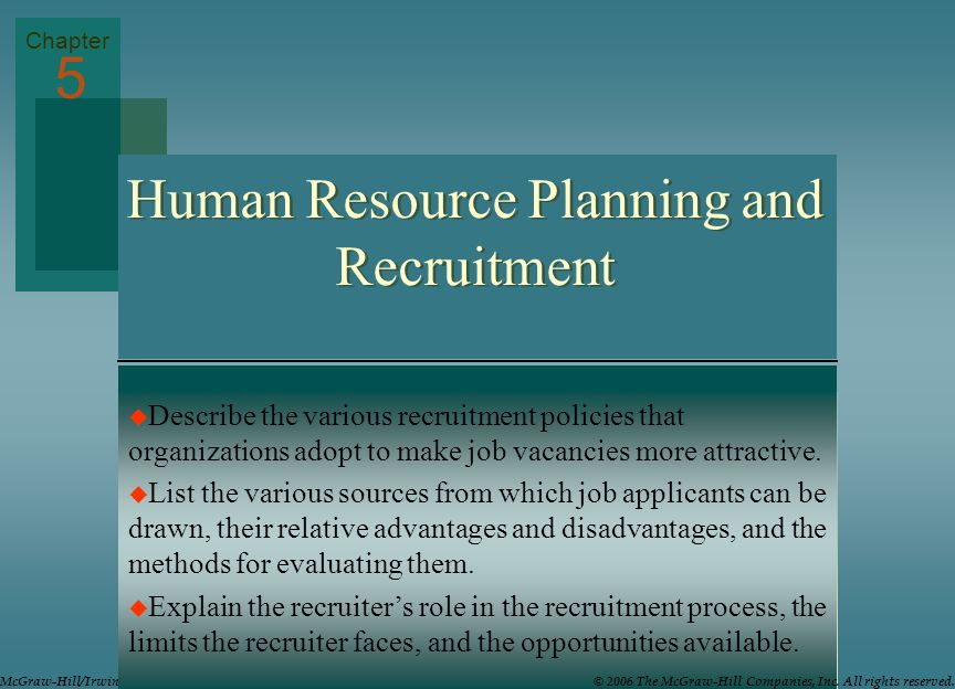 human resource planning and recruitment pdf
