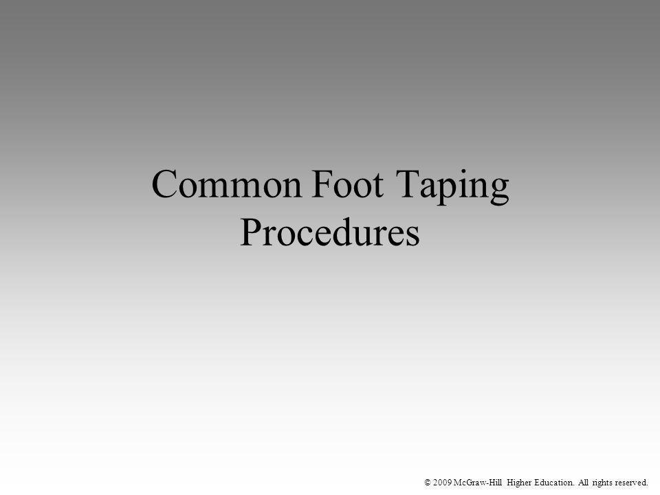 Common Foot Taping Procedures