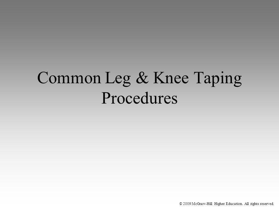 Common Leg & Knee Taping Procedures