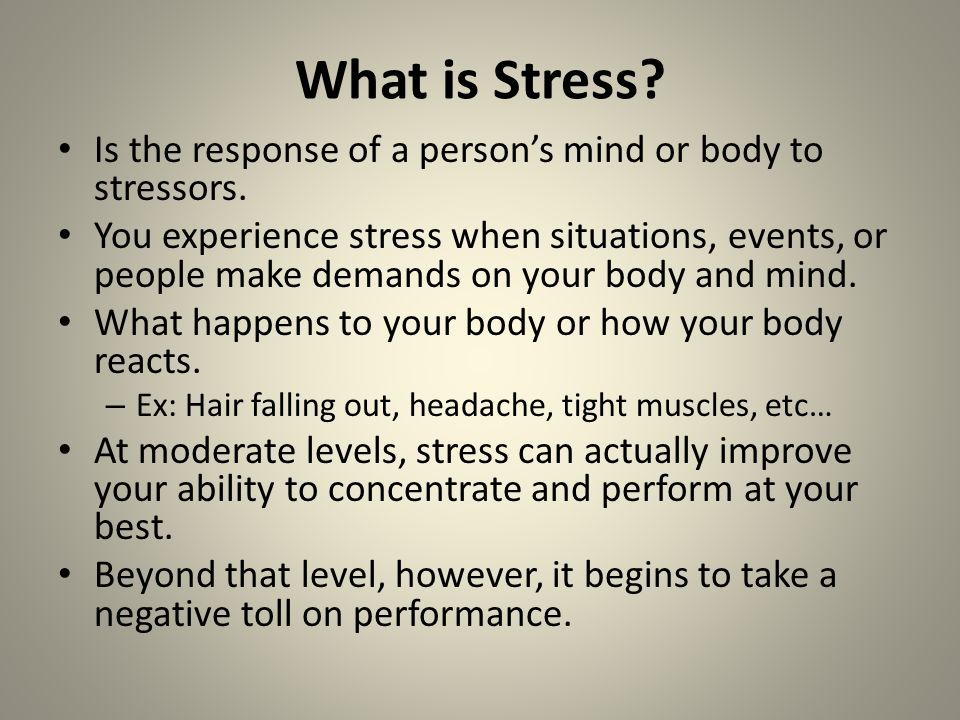 describe how the body responds to stress essay Are the effects of stress why are more people using medications to combat  stress  the body of the essay describes the different effects and gives  evidence to support them the conclusion can  questions & answers.
