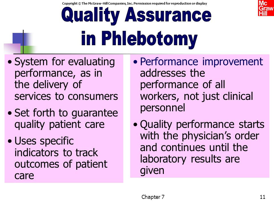 Quality Assurance in Phlebotomy