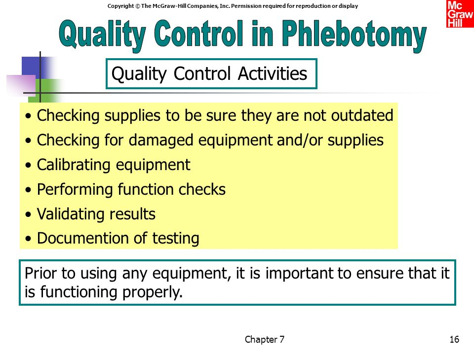 Phlebotomy Quality Control Part 2