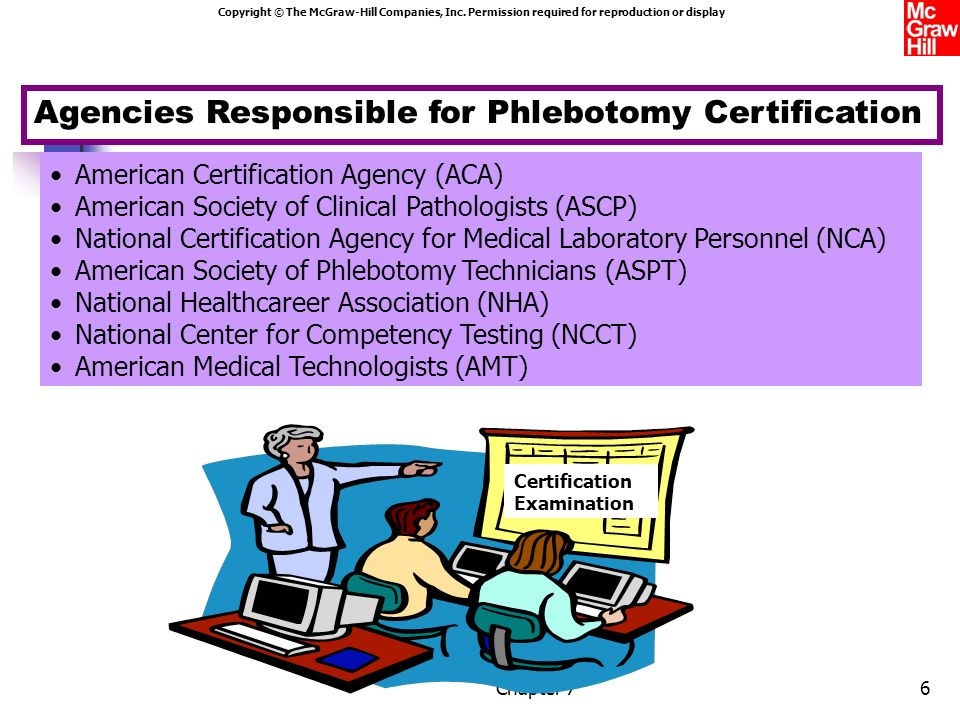 Agencies Responsible for Phlebotomy Certification