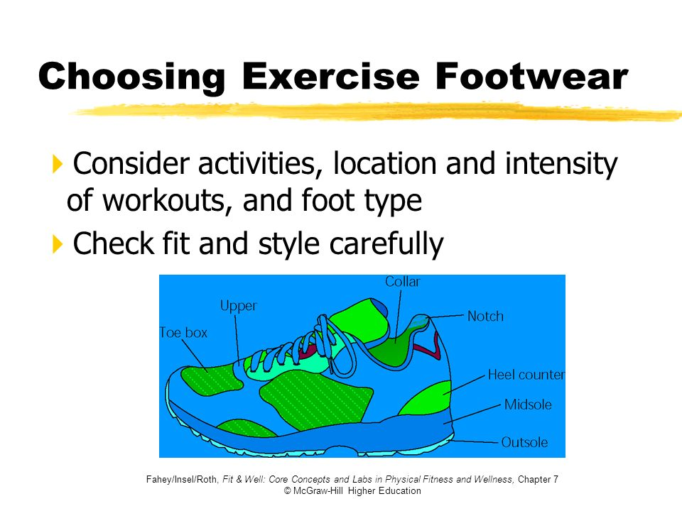 Choosing Exercise Footwear