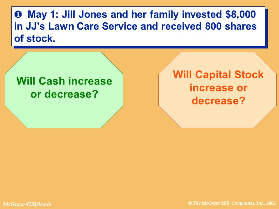 Will Capital Stock increase or decrease