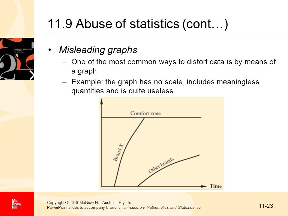 11.9 Abuse of statistics (cont…)