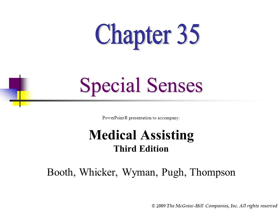 Chapter 35 Special Senses Medical Assisting