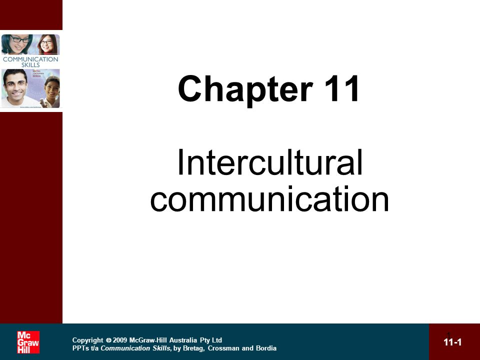 Chapter 11 Intercultural communication