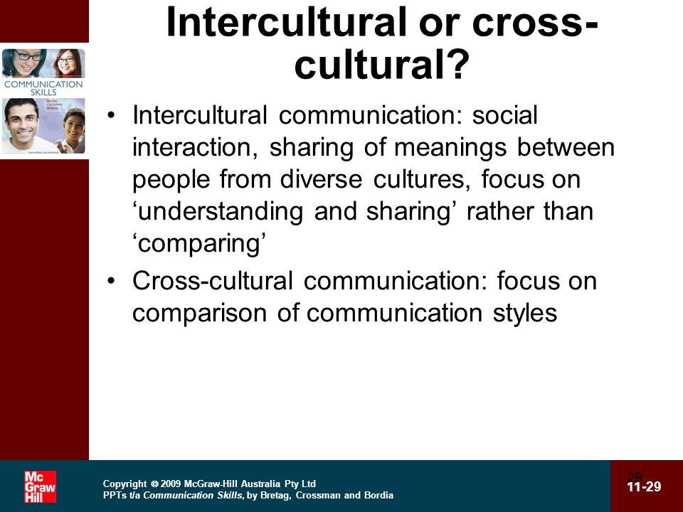 Intercultural or cross-cultural