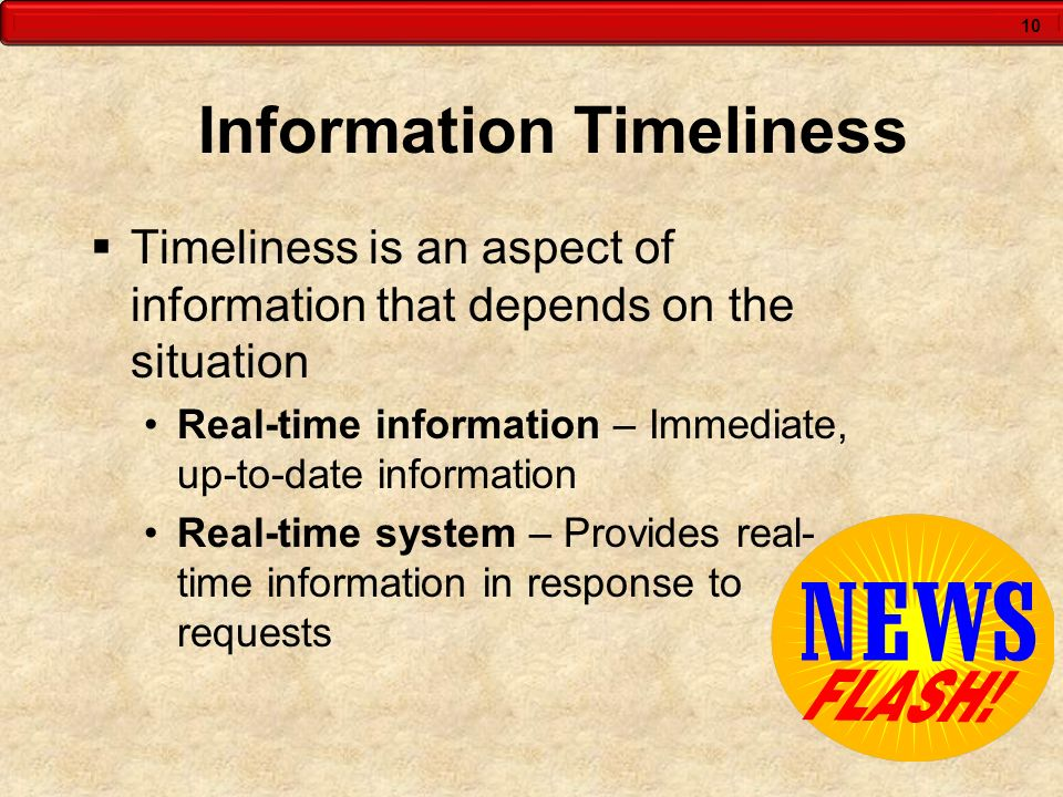 Information Timeliness