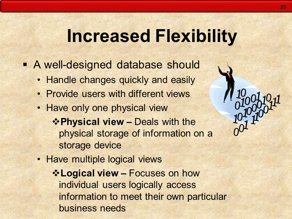 Increased Flexibility