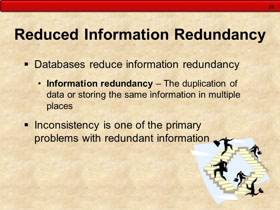 Reduced Information Redundancy