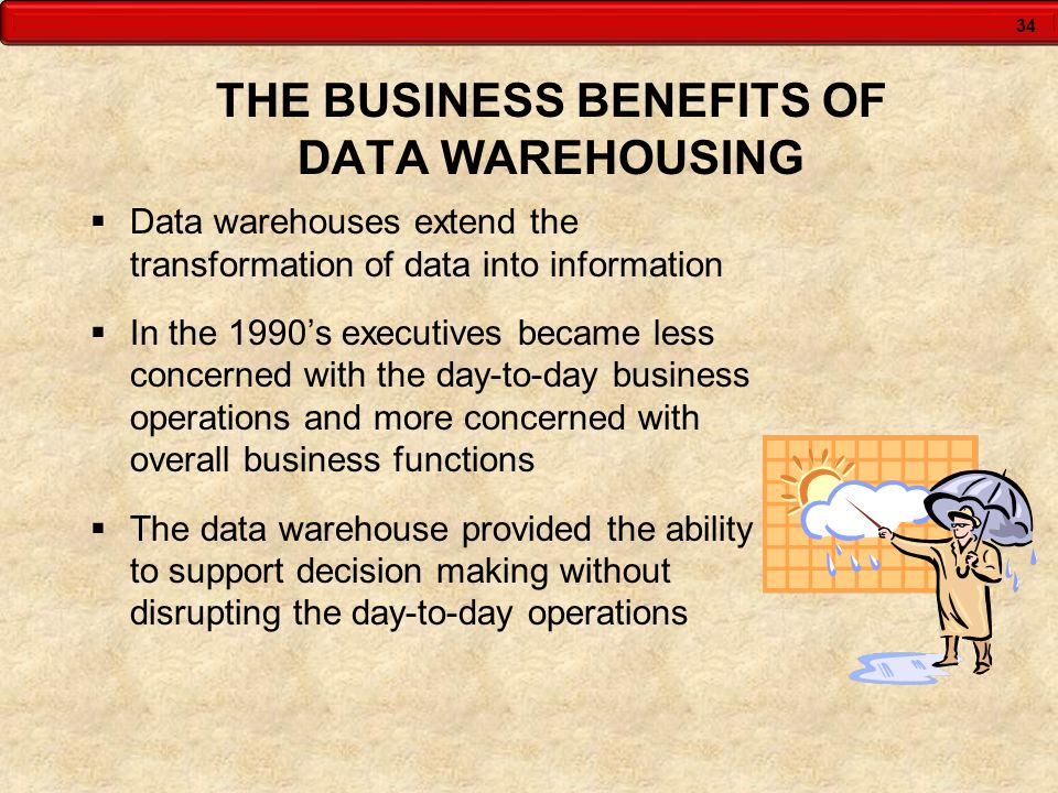 THE BUSINESS BENEFITS OF DATA WAREHOUSING