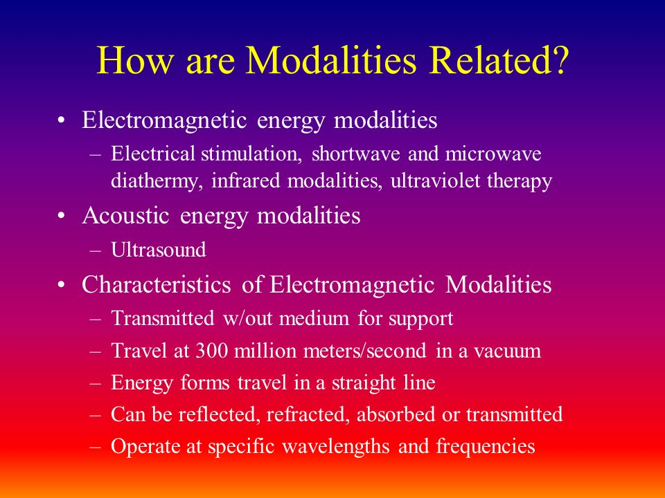 How are Modalities Related