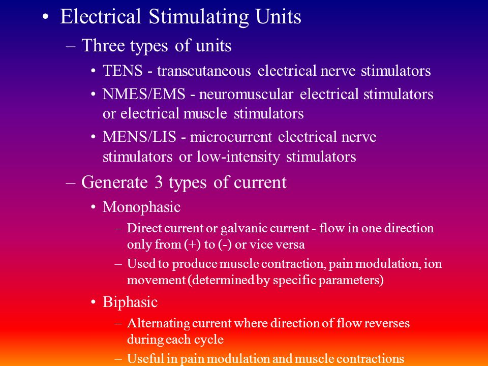 Electrical Stimulating Units