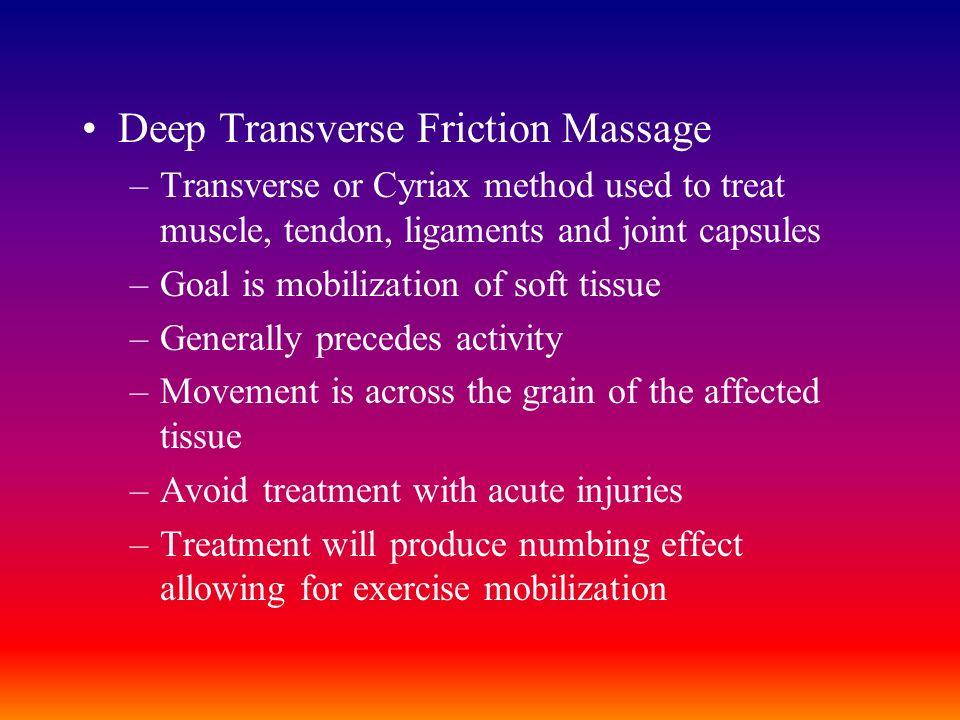 Deep Transverse Friction Massage