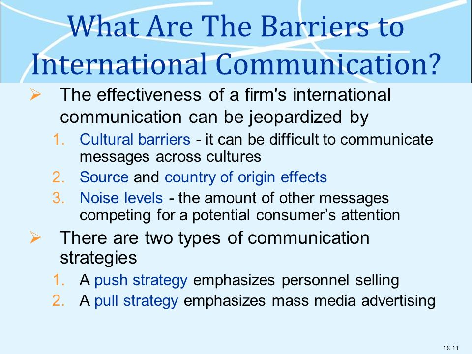 What Are The Barriers to International Communication