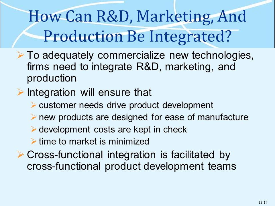 How Can R&D, Marketing, And Production Be Integrated