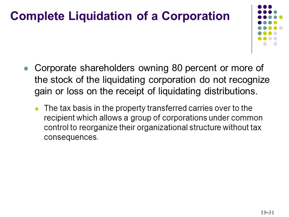 Irs liquidating dividends distributions