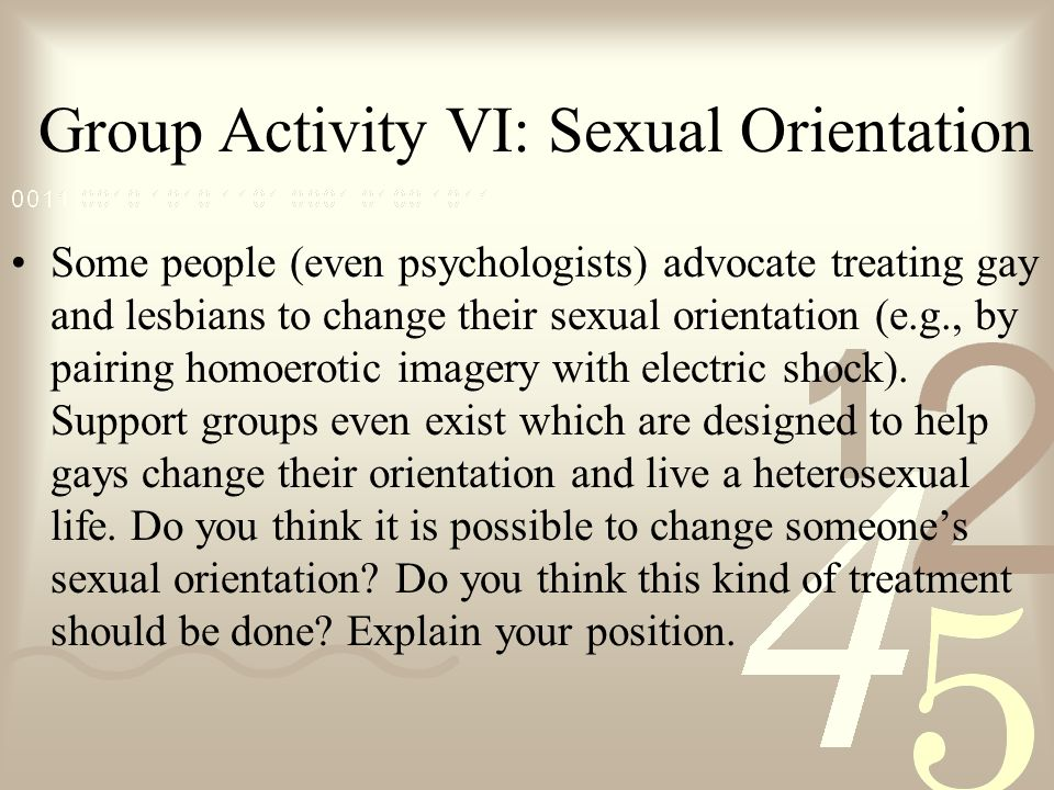 changing sexual orientation
