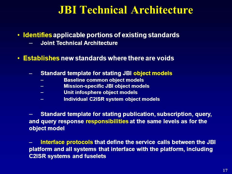JBI Technical Architecture
