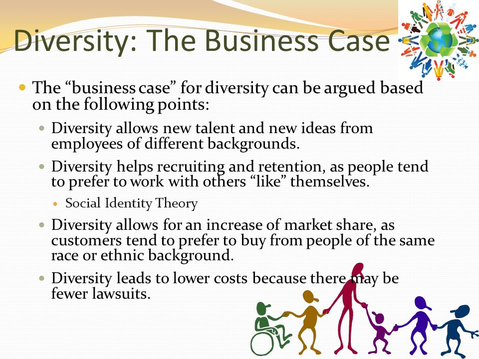 business case of diversity management Managing diversity at workplace: a case of hp  in the case study diversity management  to a competitive business environment, however diversity that are well .