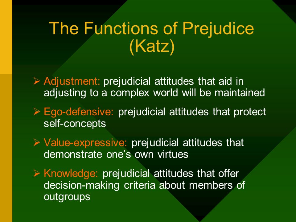 The Functions of Prejudice (Katz)