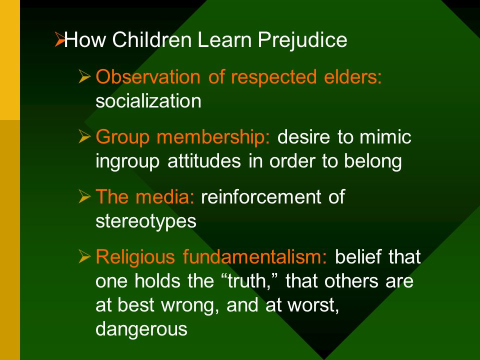How Children Learn Prejudice