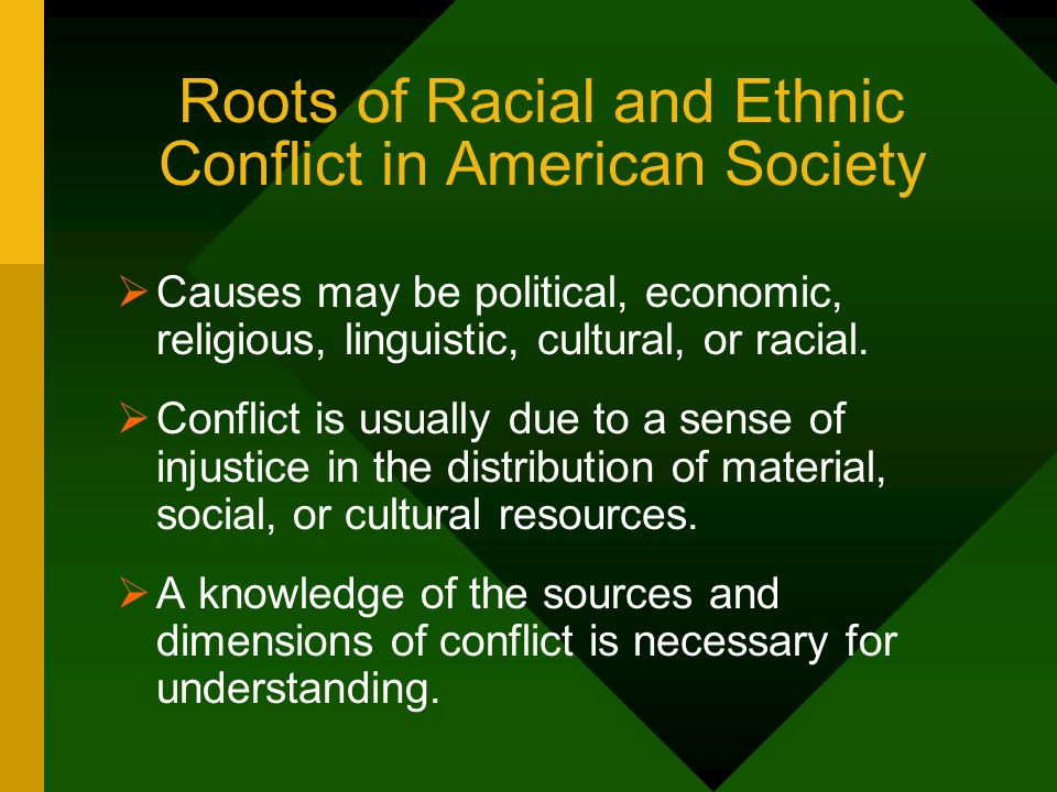 Roots of Racial and Ethnic Conflict in American Society